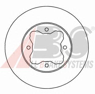 Тормозной диск A.B.S. 16038