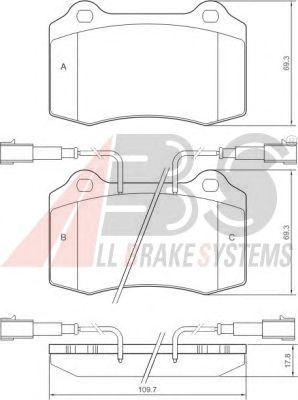 Тормозные колодки A.B.S. 37041