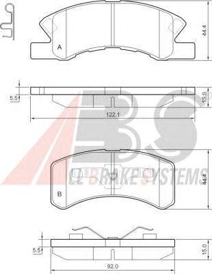 Тормозные колодки A.B.S. 37490