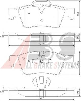 Тормозные колодки A.B.S. 37509