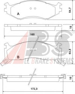 Тормозные колодки A.B.S. 38521