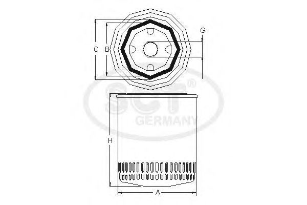 Фильтр для охлаждающей жидкости SCT Germany SV 7503