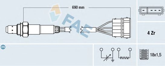 Лямбда-зонд FAE 77128