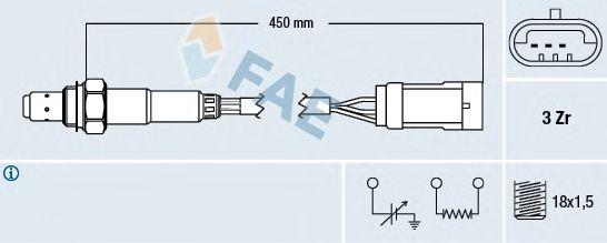 Лямбда-зонд FAE 77222