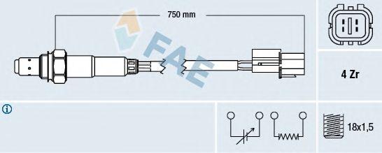 Лямбда-зонд FAE 77291