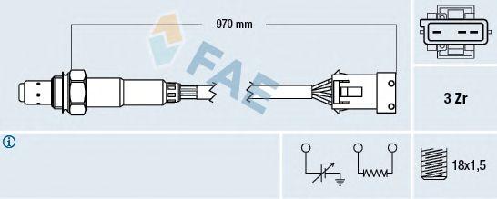 Лямбда-зонд FAE 77306