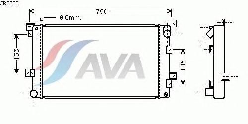 Радиатор, охлаждение двигателя AVA QUALITY COOLING CR2033