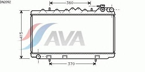 Радиатор, охлаждение двигателя AVA QUALITY COOLING DN2092