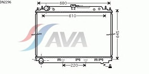 Радиатор, охлаждение двигателя AVA QUALITY COOLING DN2296
