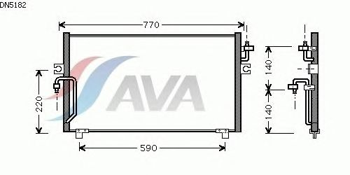 Радиатор кондиционера AVA QUALITY COOLING DN5182