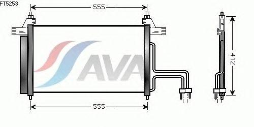 Радиатор кондиционера AVA QUALITY COOLING FT5253