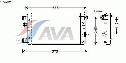 Радиатор, охлаждение двигателя AVA QUALITY COOLING FTA2239