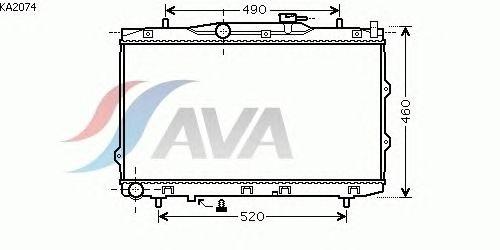 Радиатор, охлаждение двигателя AVA QUALITY COOLING KA2074