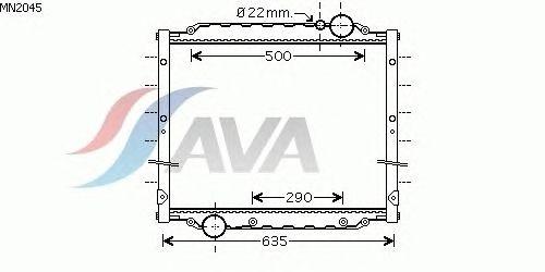 Радиатор, охлаждение двигателя AVA QUALITY COOLING MN2045