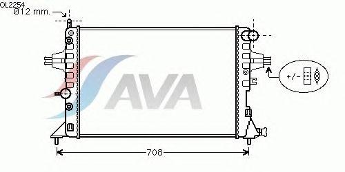 Радиатор, охлаждение двигателя AVA QUALITY COOLING OL2254