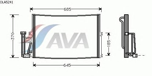 Радиатор кондиционера AVA QUALITY COOLING OLA5241