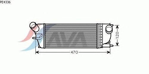 Интеркулер AVA QUALITY COOLING PE4336