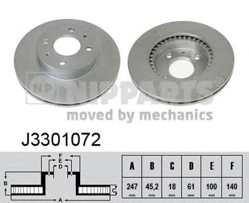 Тормозной диск NIPPARTS J3301072