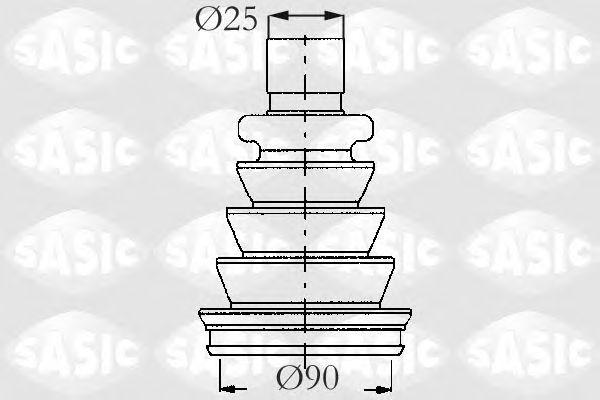 Комплект пыльника ШРУСа SASIC 2933633