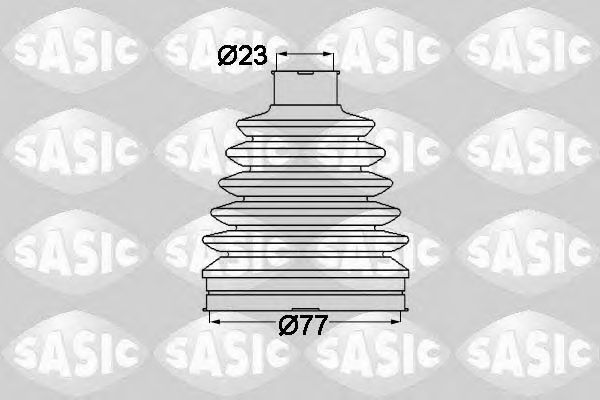 Комплект пыльника ШРУСа SASIC 1904022