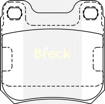 Тормозные колодки BRECK 21050 00 704 00