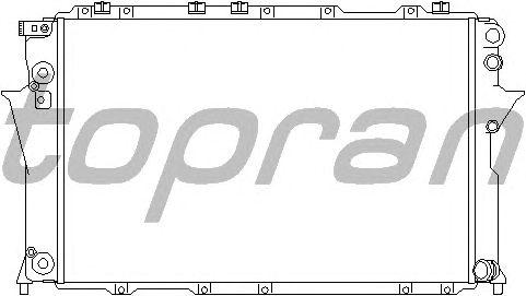 Радиатор, охлаждение двигателя TOPRAN 105 743