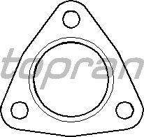 Прокладка, труба выхлопного газа TOPRAN 107 209