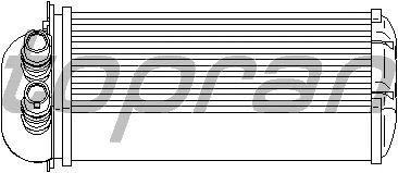 Радиатор отопителя TOPRAN 700 750