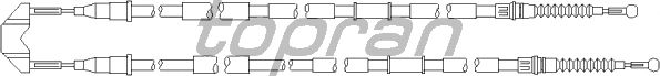 Трос ручника TOPRAN 208 010