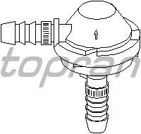 Клапан, управление воздуха-впускаемый воздух TOPRAN 112 282