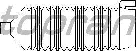 Пыльник рулевой рейки TOPRAN 205 791