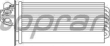 Радиатор отопителя TOPRAN 721 424
