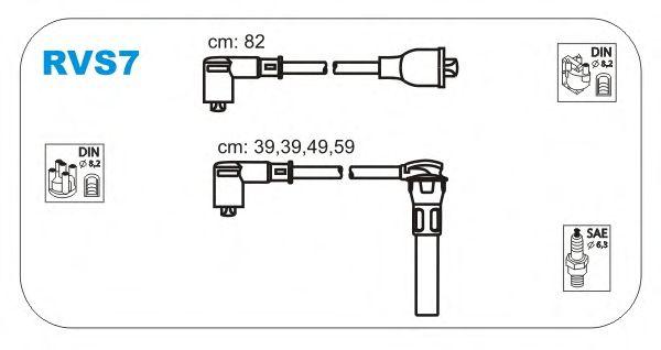Комплект высоковольтных проводов JANMOR RVS7