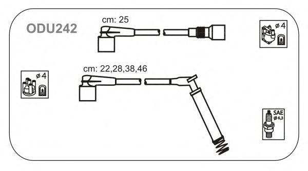 Комплект высоковольтных проводов JANMOR ODU242