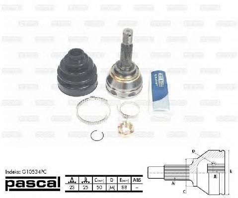 Комплект ШРУСов PASCAL G10534PC