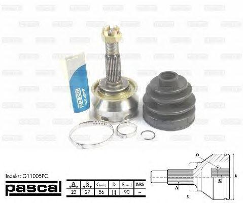 Комплект ШРУСов PASCAL G11005PC
