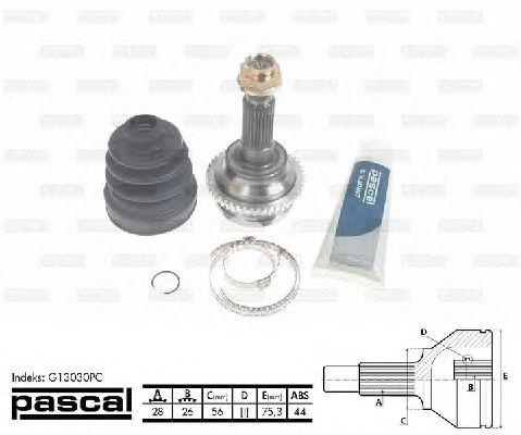 Комплект ШРУСов PASCAL G13030PC
