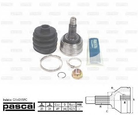 Комплект ШРУСов PASCAL G14015PC