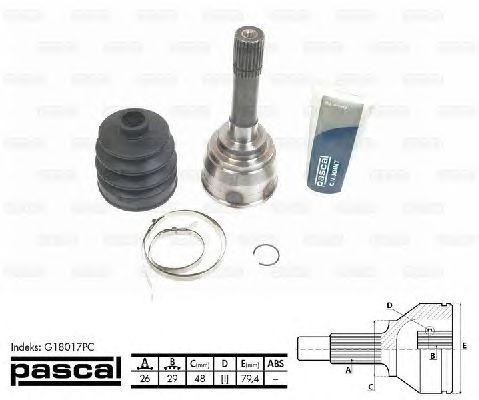 Комплект ШРУСов PASCAL G18017PC