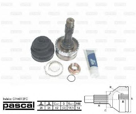 Комплект ШРУСов PASCAL G1M012PC