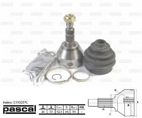 Комплект ШРУСов PASCAL G1X025PC