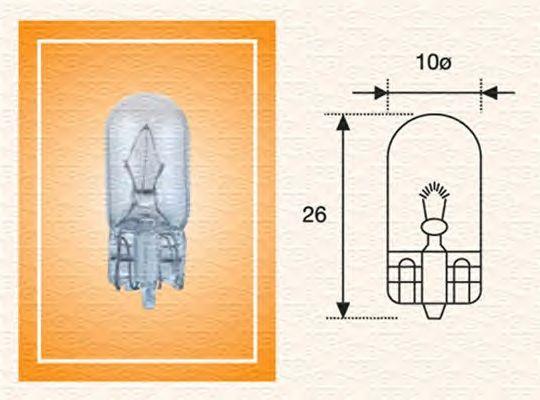 Лампа накаливания MAGNETI MARELLI 003822100000 (фонарь указателя поворота, освещение щитка приборов)