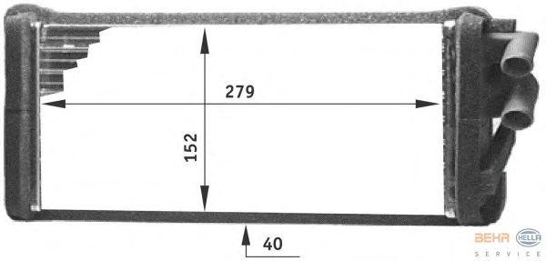 Радиатор отопителя BEHR HELLA SERVICE 8FH 351 311-621
