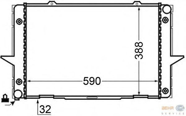 Радиатор, охлаждение двигателя BEHR HELLA SERVICE 8MK 376 726-761