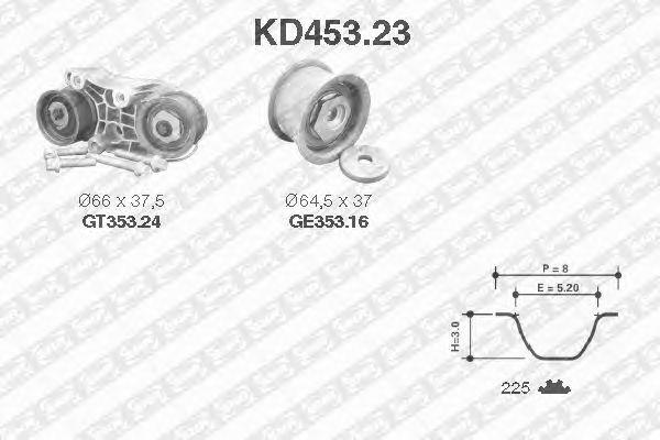 Комплект ремня ГРМ SNR KD453.23