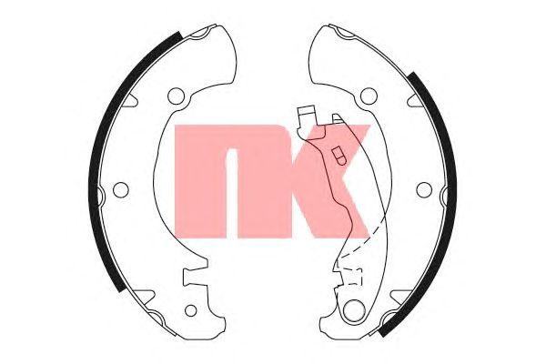 Тормозные колодки NK 2723625