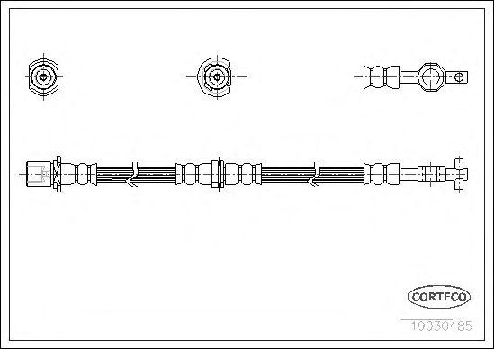 Тормозной шланг CORTECO 19030485
