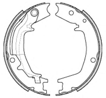 Тормозные колодки ручника REMSA 4235.00