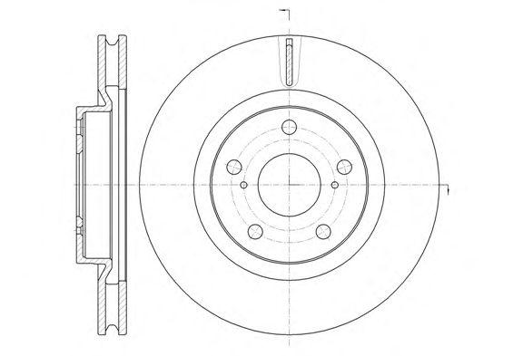 Тормозной диск REMSA 61259.10