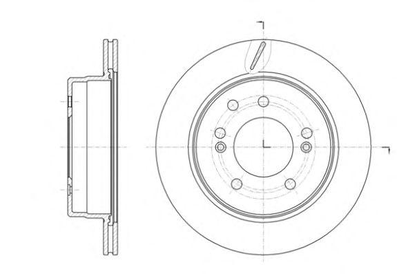 Тормозной диск REMSA 61413.10